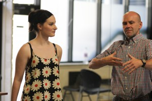 Philip Raymond teaching on the RADA Musical Theatre Summer School. Photo credit: Linda Carter.